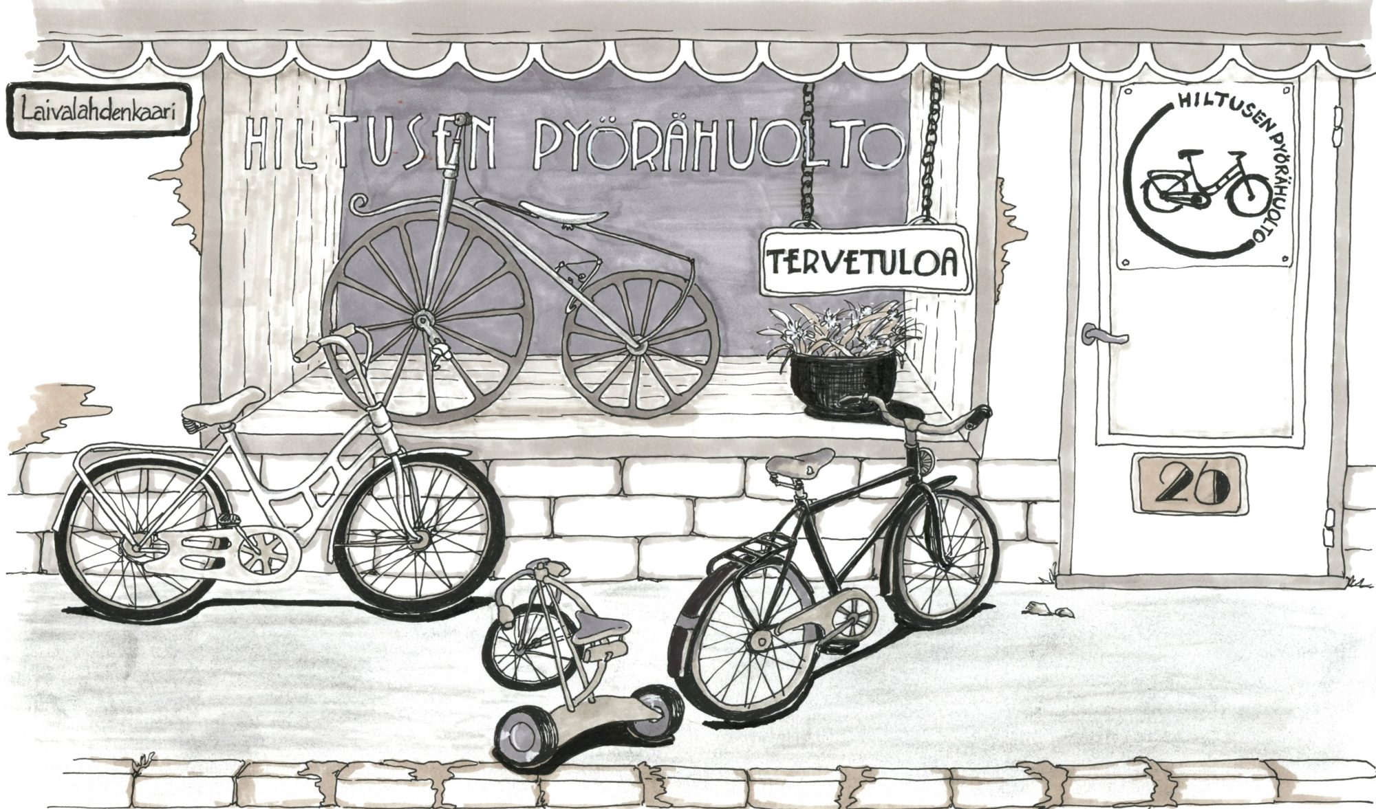hiltusen pyörähuolto